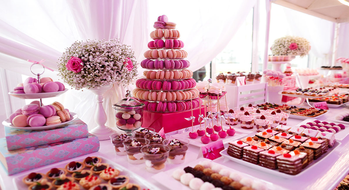 Lush Asian Wedding Dessert Table with Unique Treats- Crystal Cake ...